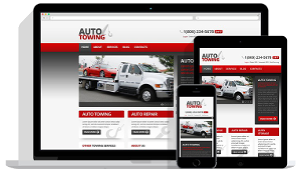 Responsive towing websites